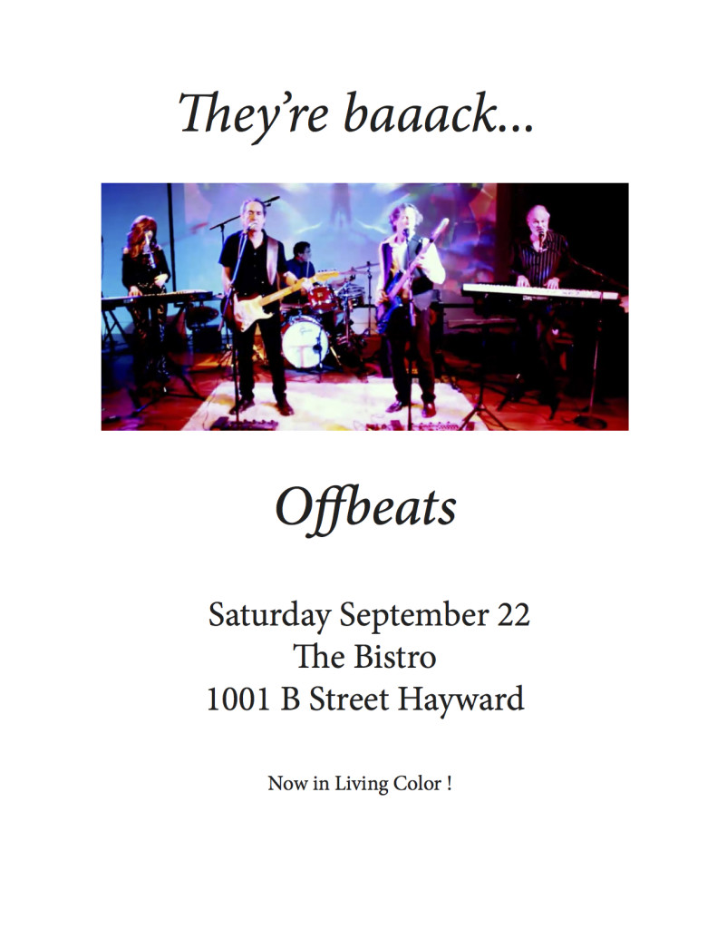 Offbeats 9.22.18 at the Bistro